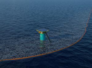 Plasticveger Ocean Cleanup start vandaag voor kust van Scheveningen