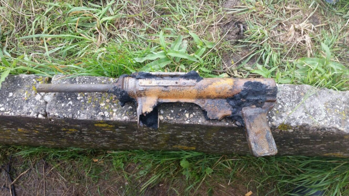 Machinegeweer gevonden bij het baggeren