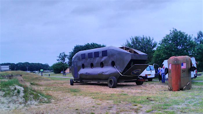 Chinook helikopter gearriveerd bij 't Veenmeer