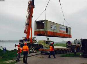 Container wrakduik oefeningen afgezonken in 't Twiske