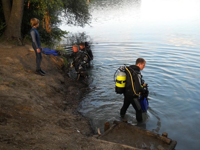Duiken in de Brechtsee in Duitsland
