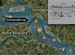 Groot oorlogswrak bij de Zeelandbrug
