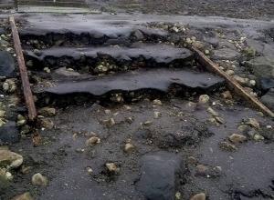 Trap Bergse Diepsluis in slechte staat
