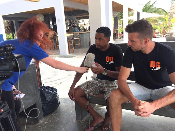 Duikersgids op NOS journaal Bonaire