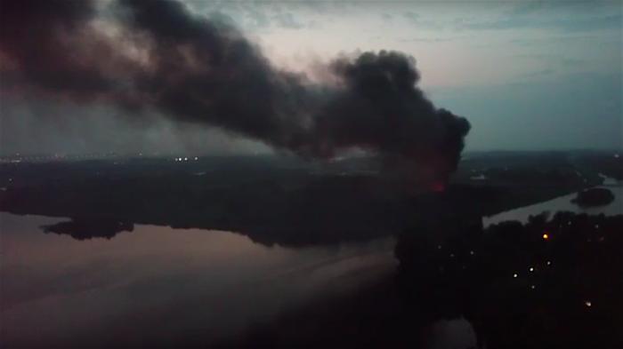 Bus Onderwaterpark Twiske totaal uitgebrand