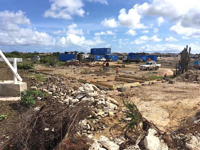 Bouw nieuwe duikschop Wannadive Bonaire