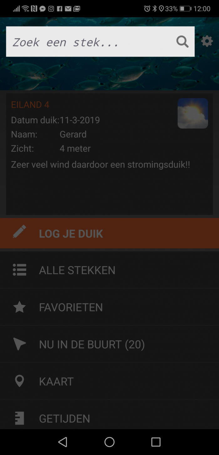 Duikersgids bug Android 9