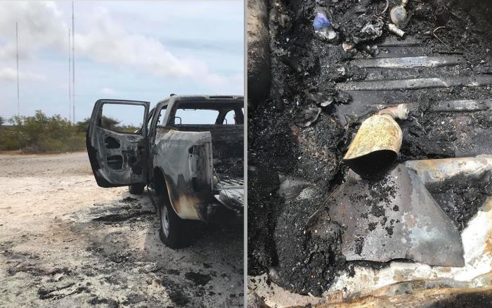 Auto brandt uit op Bonaire na ontploffing zuurstof tank