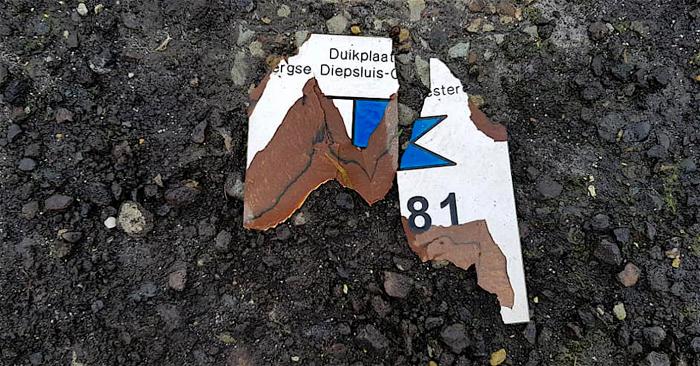 Vandalisme bij de Bergse Diepsluis