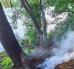 Duikers blussen aangestoken brandje bij Ruinerwold