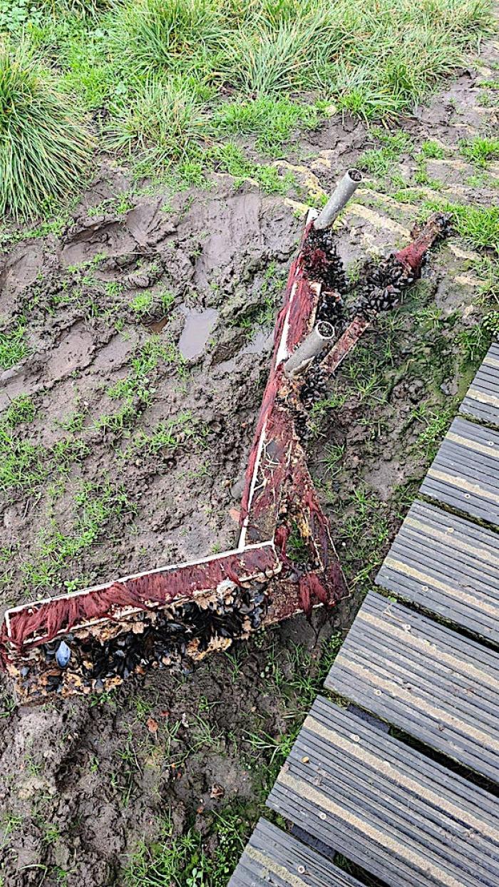 Duiktrap bij Dreischor Frans Kokrif afgebroken