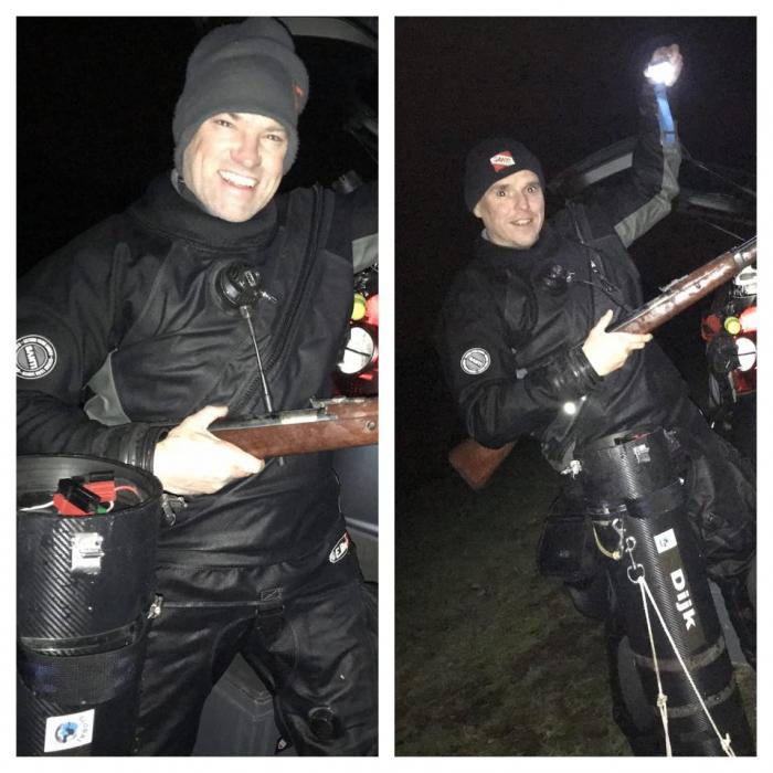 Dive Team Maaskant vindt wapen in Kraaijenbergse plas 7