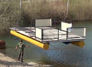Nieuw drijvend ponton bij duikplaats Mill