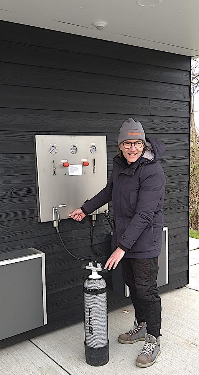 Nieuwe vulautomaat bij duikplaats Kattendijke Parking (64)