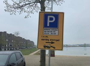 Tijdelijk parkeerverbod bij Groote Wielen