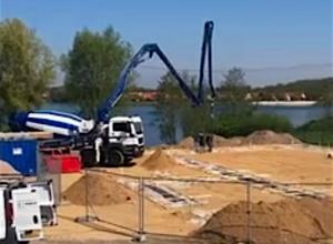 Nieuwbouw Duiklocatie Boschmolenplas in volle gang