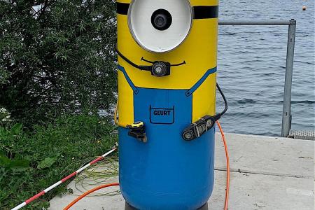 Live onderwaterbeelden in duikcentrum De Beldert