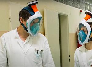 Corona verplegers voelen zich sportduikers met aangepaste maskers