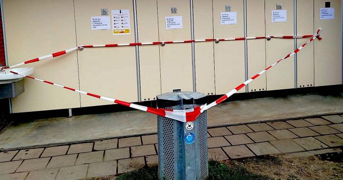 WC Eiland 4 en 5 afgesloten