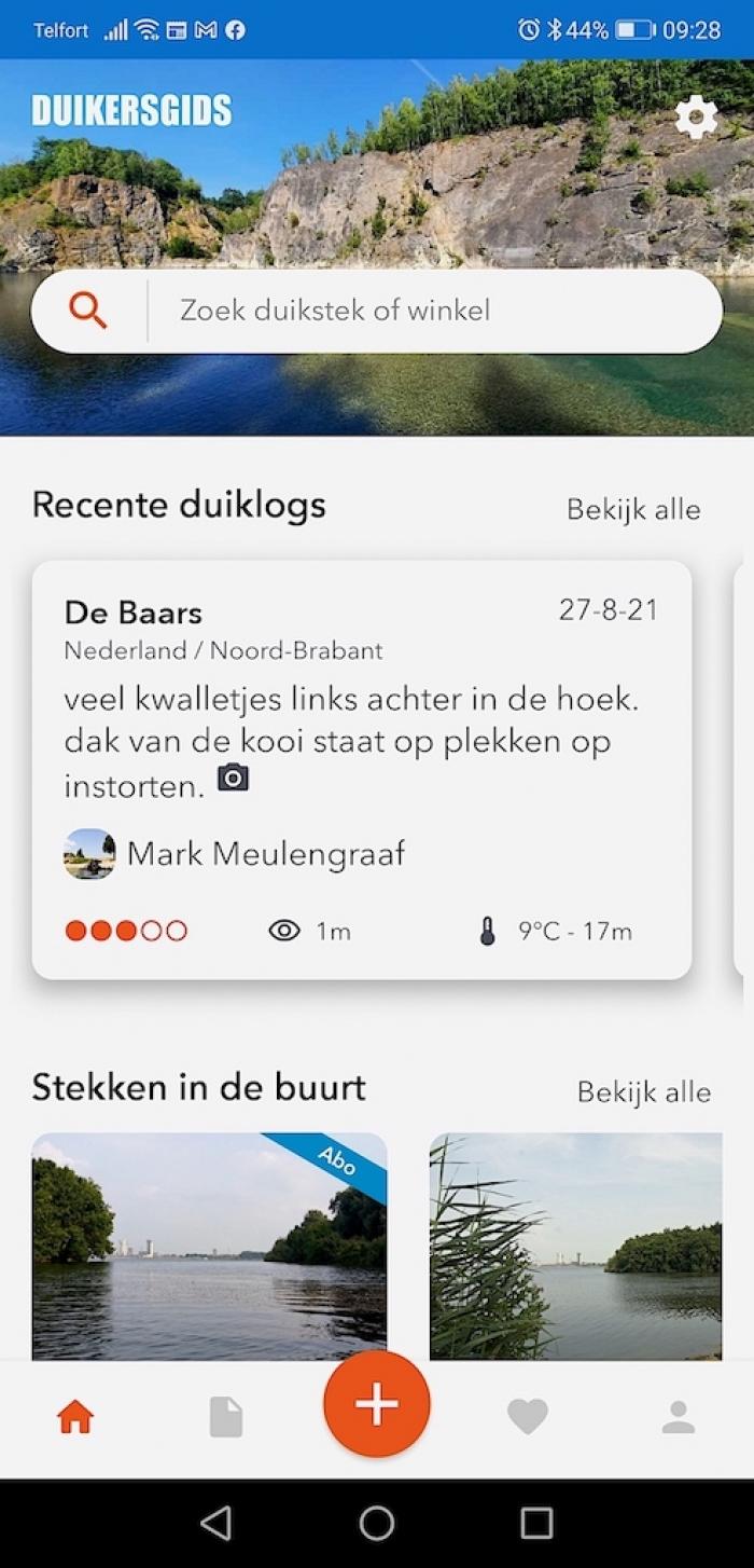 Support Team gestart met testen nieuwe Duikersgids app
