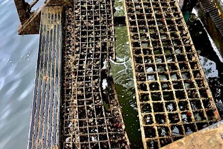 Trap Grasbroek verwijderd voor onderhoud