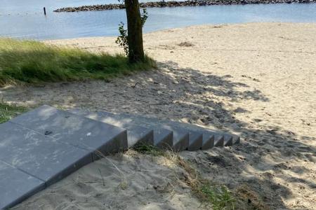 Trap aangelegd bij Geersdijk