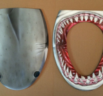 Airbrushed Great White Toilet Seat