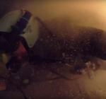 Duikers worden getroffen door onderwaterlawine