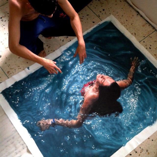 Hyper realistisch schilder Gustavo Silva Nuñez
